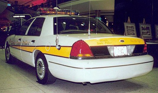 Illinois State Police 98 Crown Vic Rear View