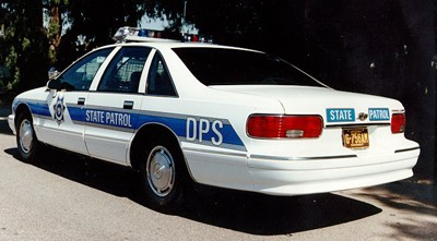 Links to individual photos of police cars