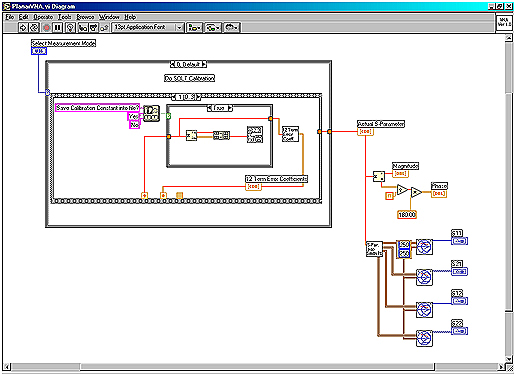 Planar vector network analyzer pvna user interface program in labview implementing solt 12 term error model calibration algorithm and displaying result in smith chart ccuart Gallery