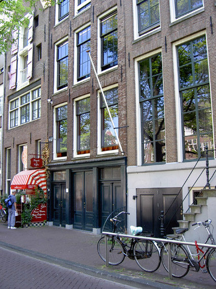 Otto Frank S Business Location On Prinsengracht