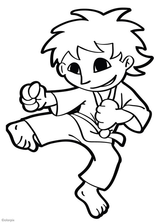 Tae Kwon Do Coloring Pages Coloring Pages