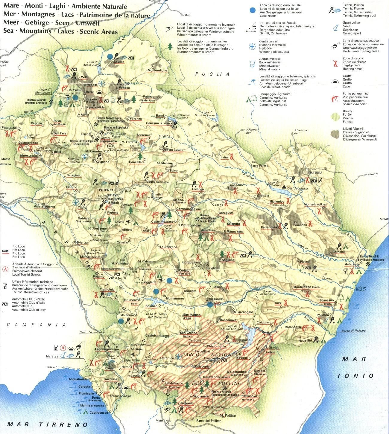 Cartina Basilicata.Chi Sono