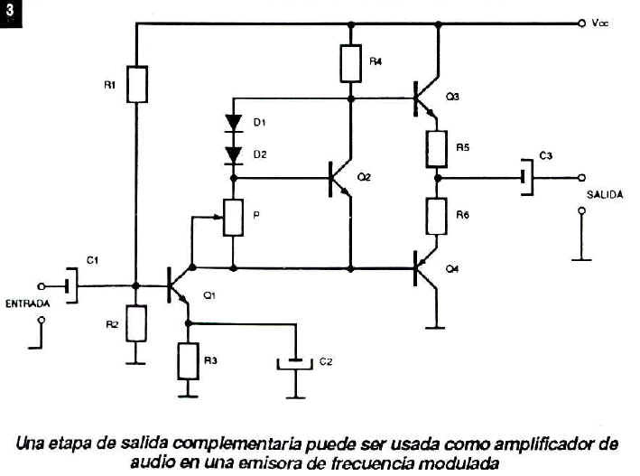 ganancia amplificador clase b: