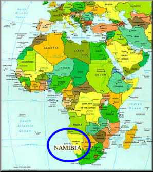 Where on earth is Namibia Namibias Location on world map