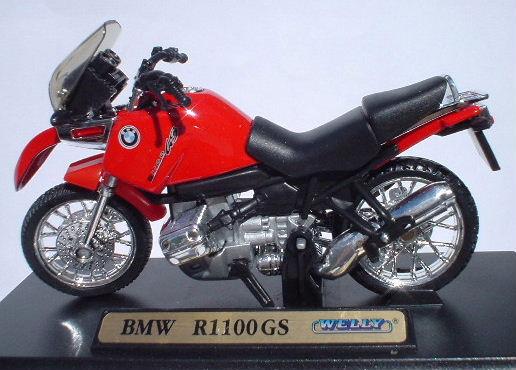 Bmw r100 RS azul 1:18 Welly modelo-Moto