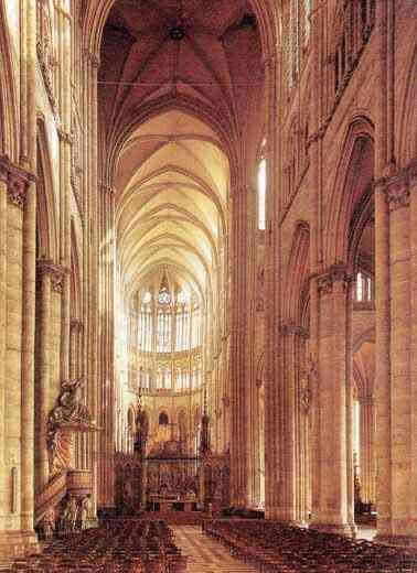 Interior de la catedral de amiens for Catedrales para techos de casas