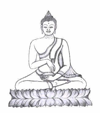 bouddha mangeant le gteau de riz