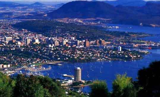 View over Hobart Cityhobart city