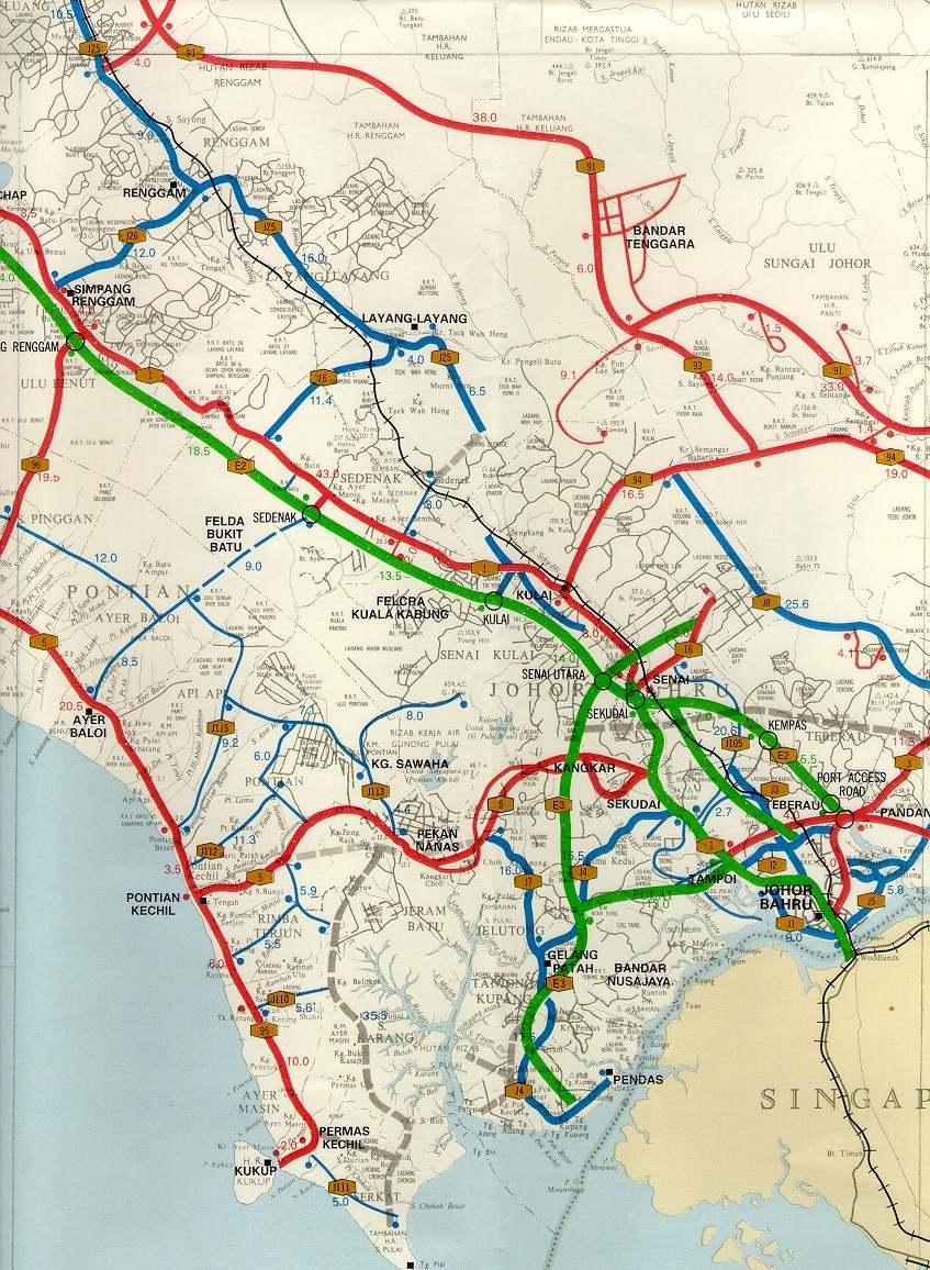 Peta Johor