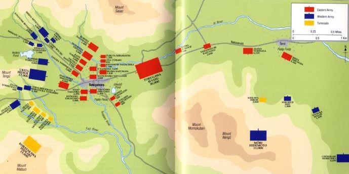 Sekigahara Battle Map Battle Map of Sekigahara