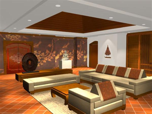 Terracotta Tiles In Living Room