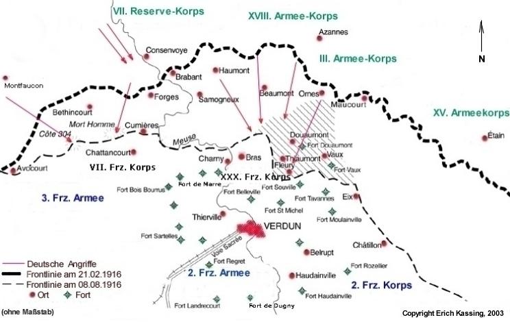 Schlachtfelder Des 2 Weltkriegs Karte.Verdun 1916 Der Industrielle Krieg