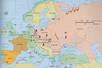 Cold War Map Of Europe Strategic