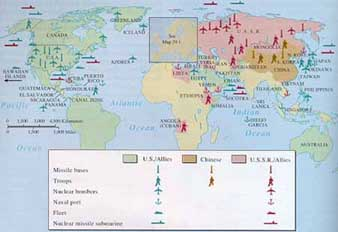 Cold war world map strategic the use of nuclear weapons grew through the 1950s and 1960s to encompass the entire henry kissinger has been noted that the spread of such destructive gumiabroncs Gallery