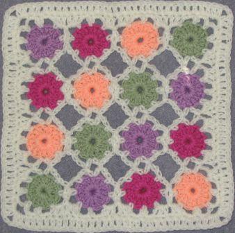 Crochet Yoyo Patterns : Chris Simons Simple Yoyo Square pattern - 12 inch crochet ...