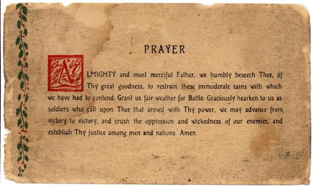 Image result for prayer card Patton's weather prayer