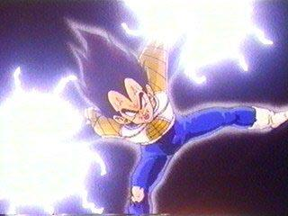 Vegeta Doing The Final Flash On Recoome