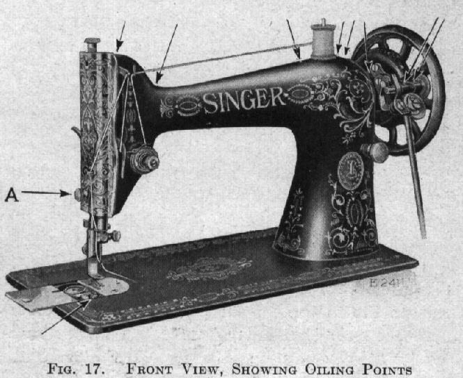 Old Fashioned Sewing Machine By Isaac Singer