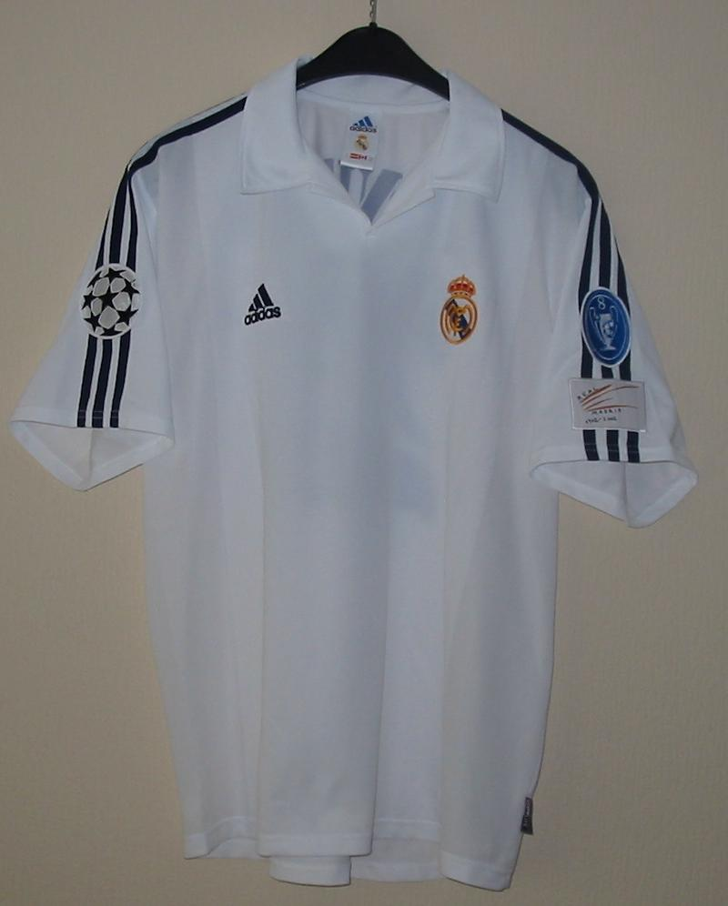real madrid jersey 2001