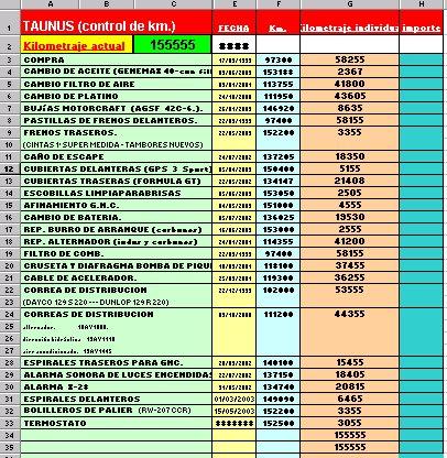 formatos para control de gastos
