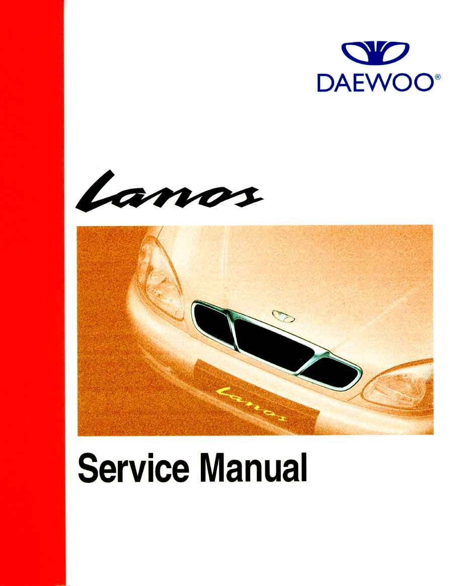 daewoo lanos service manual cover page