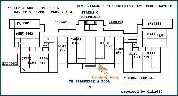 ... Divi Village Resort Layouts   A Divi Resorts   C Building Floorplans