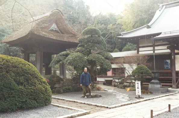 Damiano al tempio zen hokoku-ji di kamakura, 18dicembre 2000