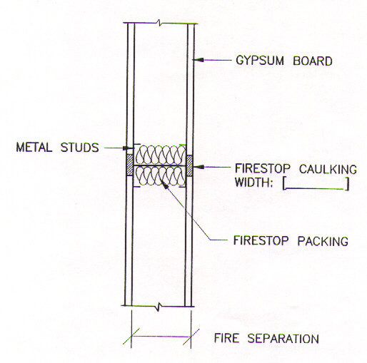 Building Joint Firestop Drawings 3 Of 3