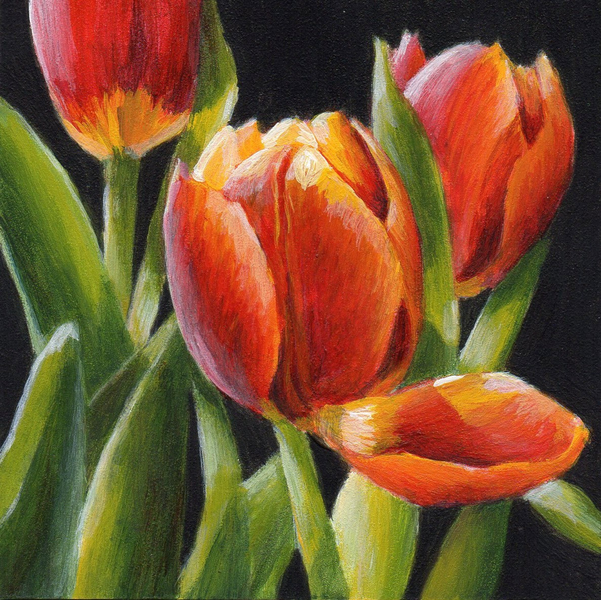 Art gallery for Floral acrylic paintings