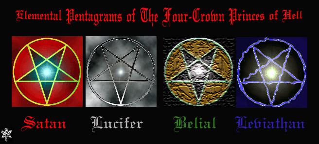 L X X V I I Elemental Pentagrams Of The Four Crown