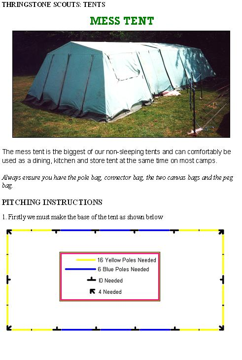 Mess tent Specifications u0026 pitching Instructions PART 1  sc 1 st  GEOCITIES.ws & Tenthire