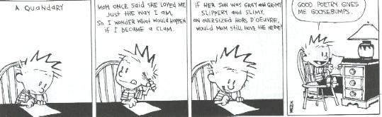 Some Calvin & Hobbes Poems.