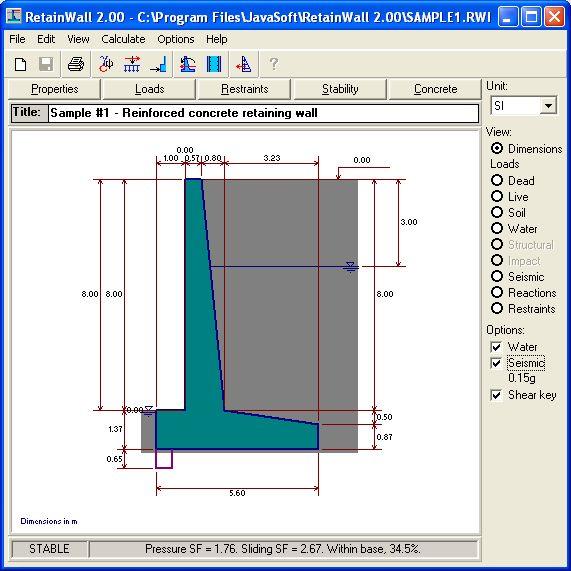 Retainwall, Retaining Wall Engineering Design Software