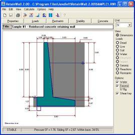 retainwall retaining wall engineering design software