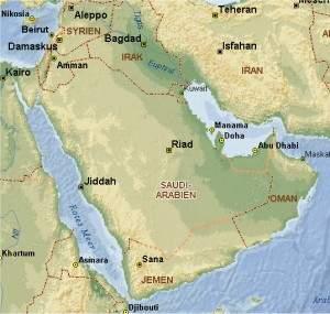 [Karte der Arabischen Halbinsel]