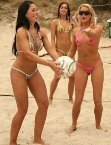 Nackte Volleyball Sportler Frauen