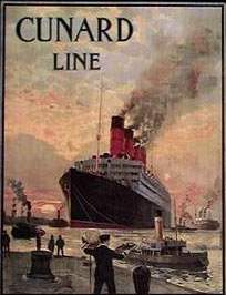 [Lusitania-Poster der Cunard Line]
