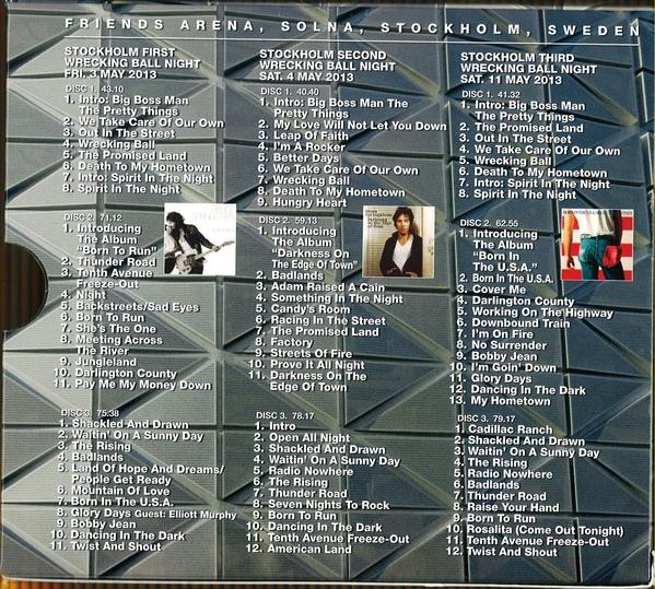 Bruce Springsteen - Stockholm Wrecking Ball Box