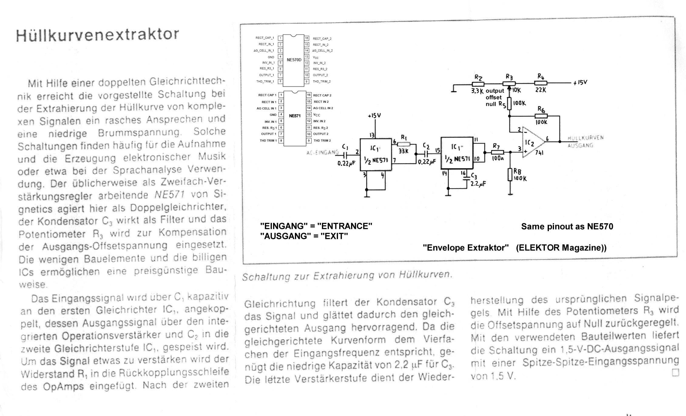 Schematics An Envelope Detector The Block Diagram Of Is Elektor Schematic Thanks