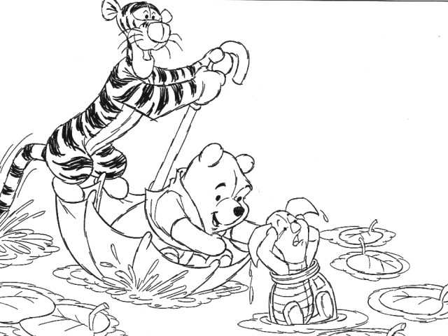 baby pooh and piglet coloring pages - Tigger Piglet Coloring Pages