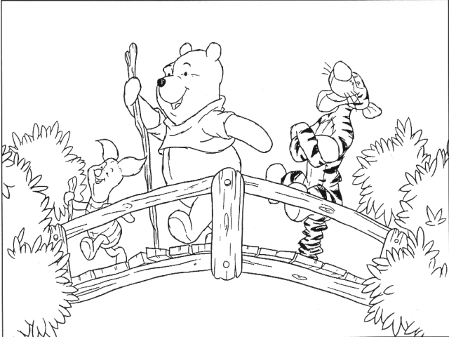 TIGGER\'S COLORING PAGES