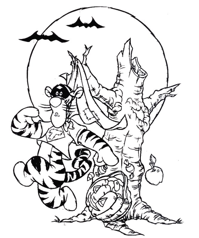 halloween coloring pages tigger - photo#11