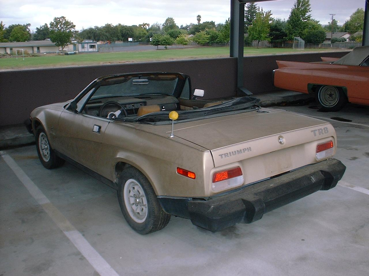 my tr project tr8 left rear view