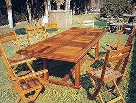 Muebles de madera para exterior teca incienso etc el for Sillas para quincho