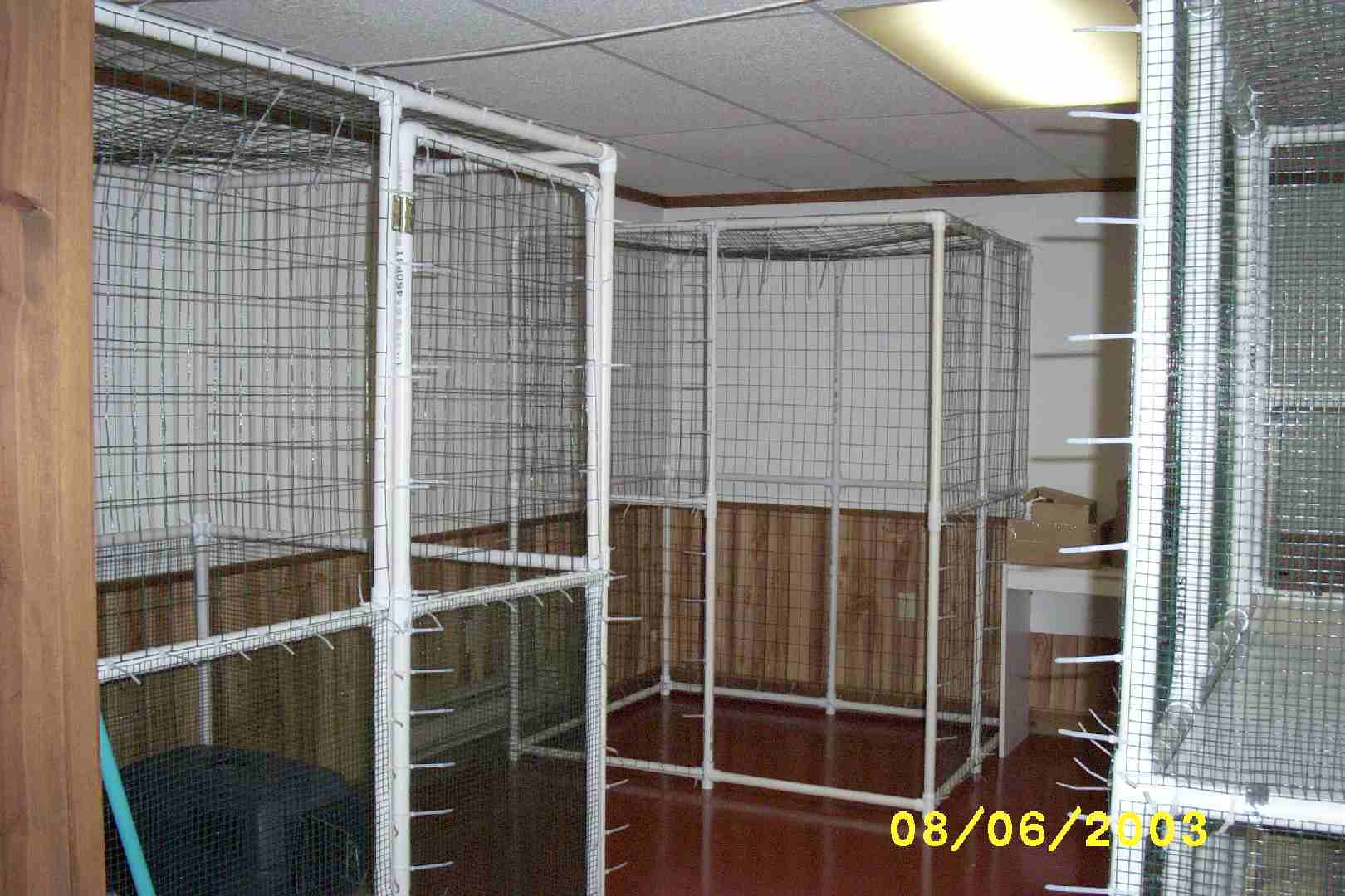 Cat cages made of pvc large cat cages rover company new for Pvc rabbit cage