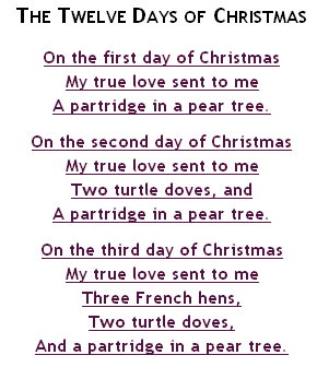 12 Days Of Christmas Song.Pics Photos 12 Days Of Christmas Songs Lyrics Christmas