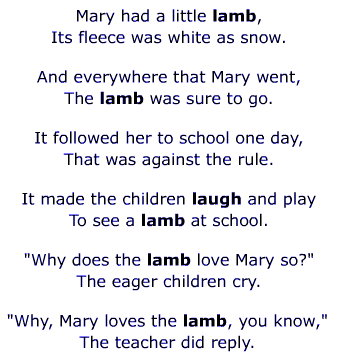 http://evaeaston.com/pr/song-mary-little-lamb.html