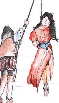 Frauen Erhängen