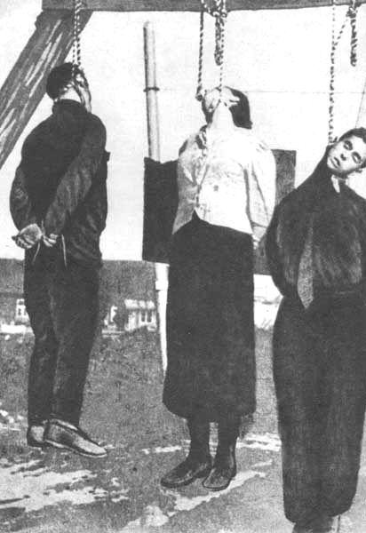 Junge partisaninnen gehängt von den nazis