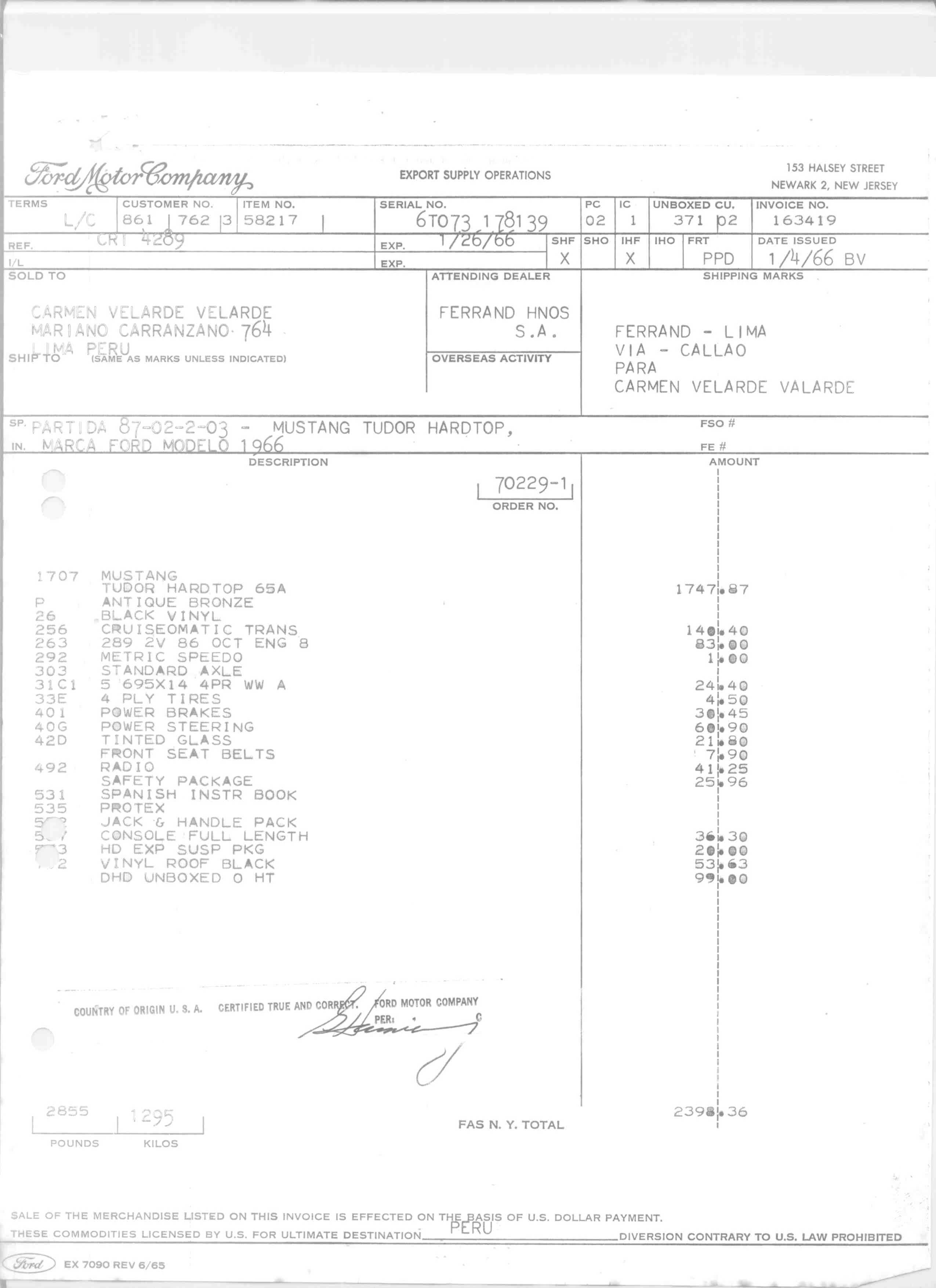 Index for Ford motor company warranty information